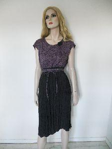 Kleid aus Baumwolle Hanf und Seide