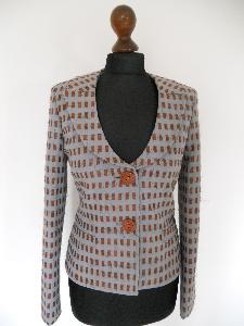 Designerblazer Baumwolle/Wolle Größe 34/36