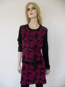 Kleid aus Strick mit Wollpaisleys