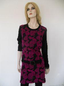 Kleid aus Strick mit Wollpaisleys
