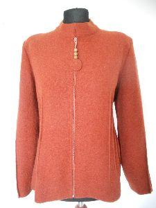 Jacke aus gewalkter Wolle